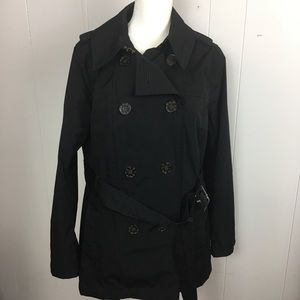 Worthington size L color black trench coat